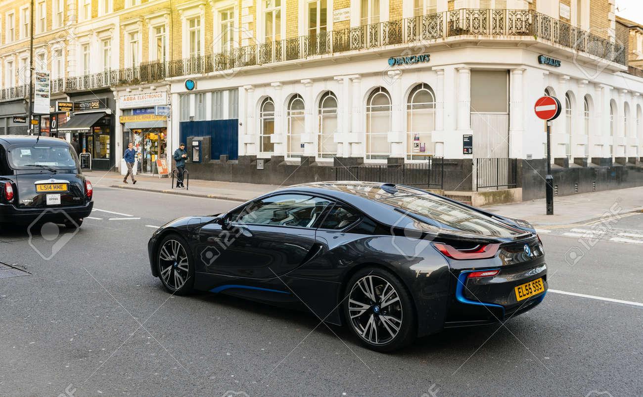 London United Kingdom Mar 9 2017 Luxury Bmw I8 Hybrid Electric