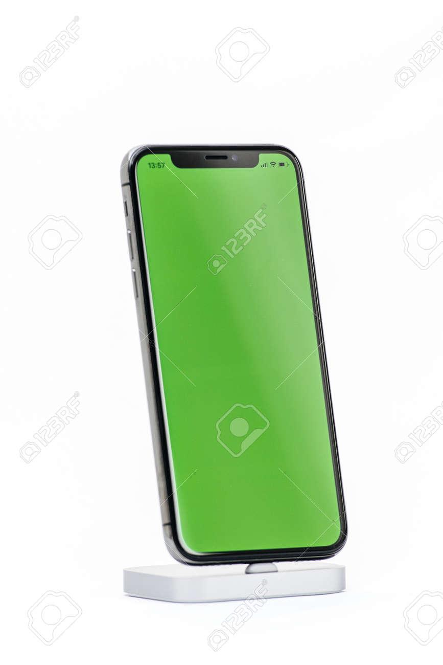 the latest dc33c 0e346 PARIS, FRANCE - NOV 5, 2017: New Apple iPhone X 10 smartphone..