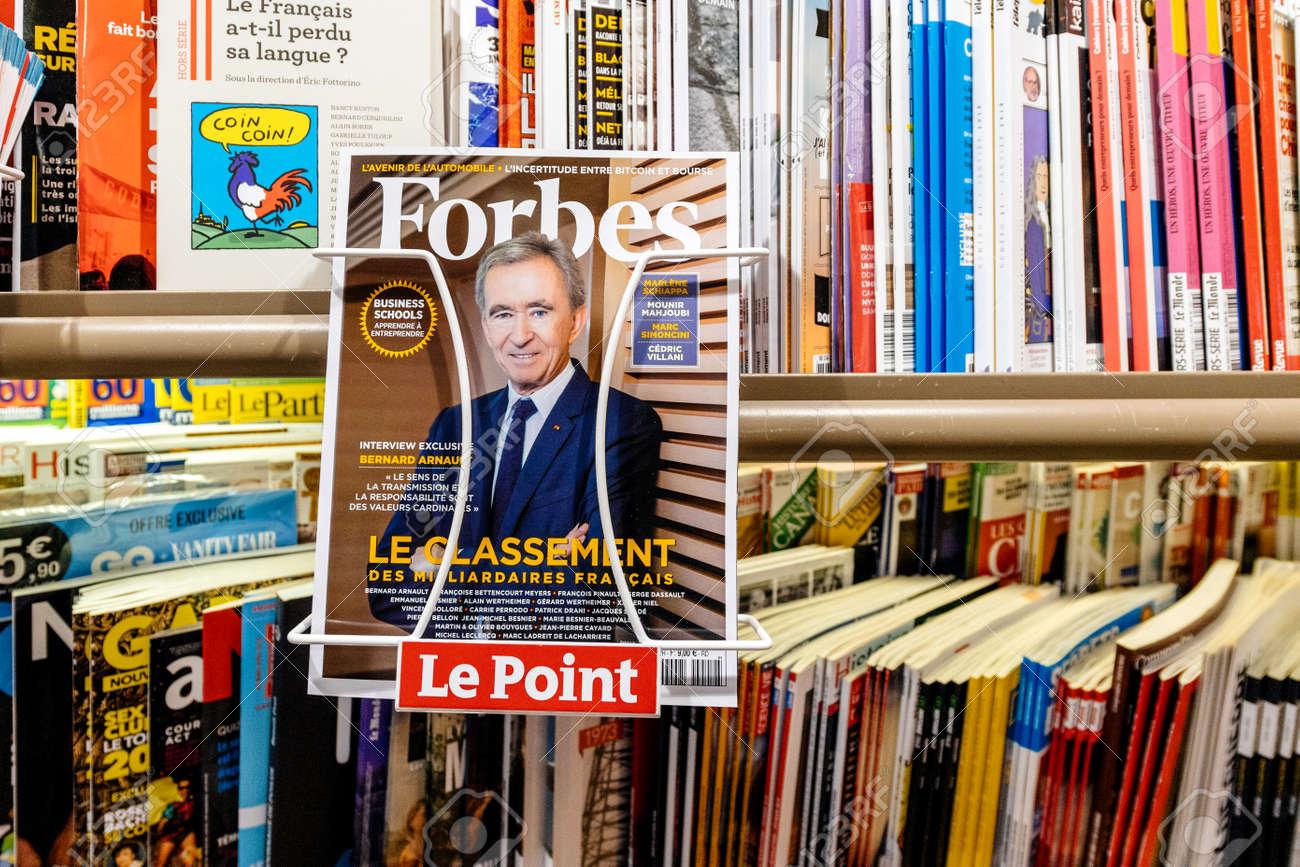Magazine Apprendre La Photo paris, france - mar 15, 2018: top of billionaires in france as..