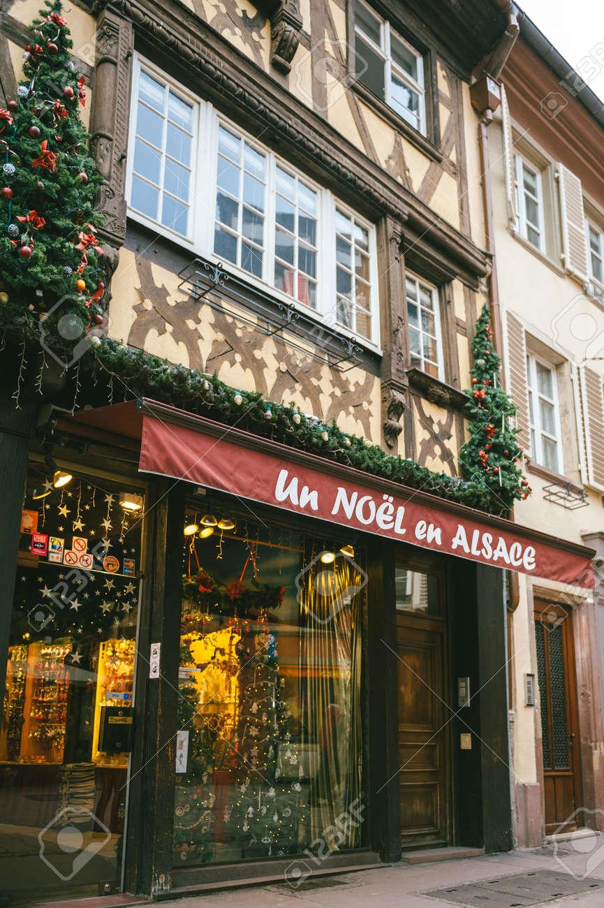 Image De Noel En Alsace.Strasbourg France Dec 28 2012 Un Noel En Alsace Store Facade