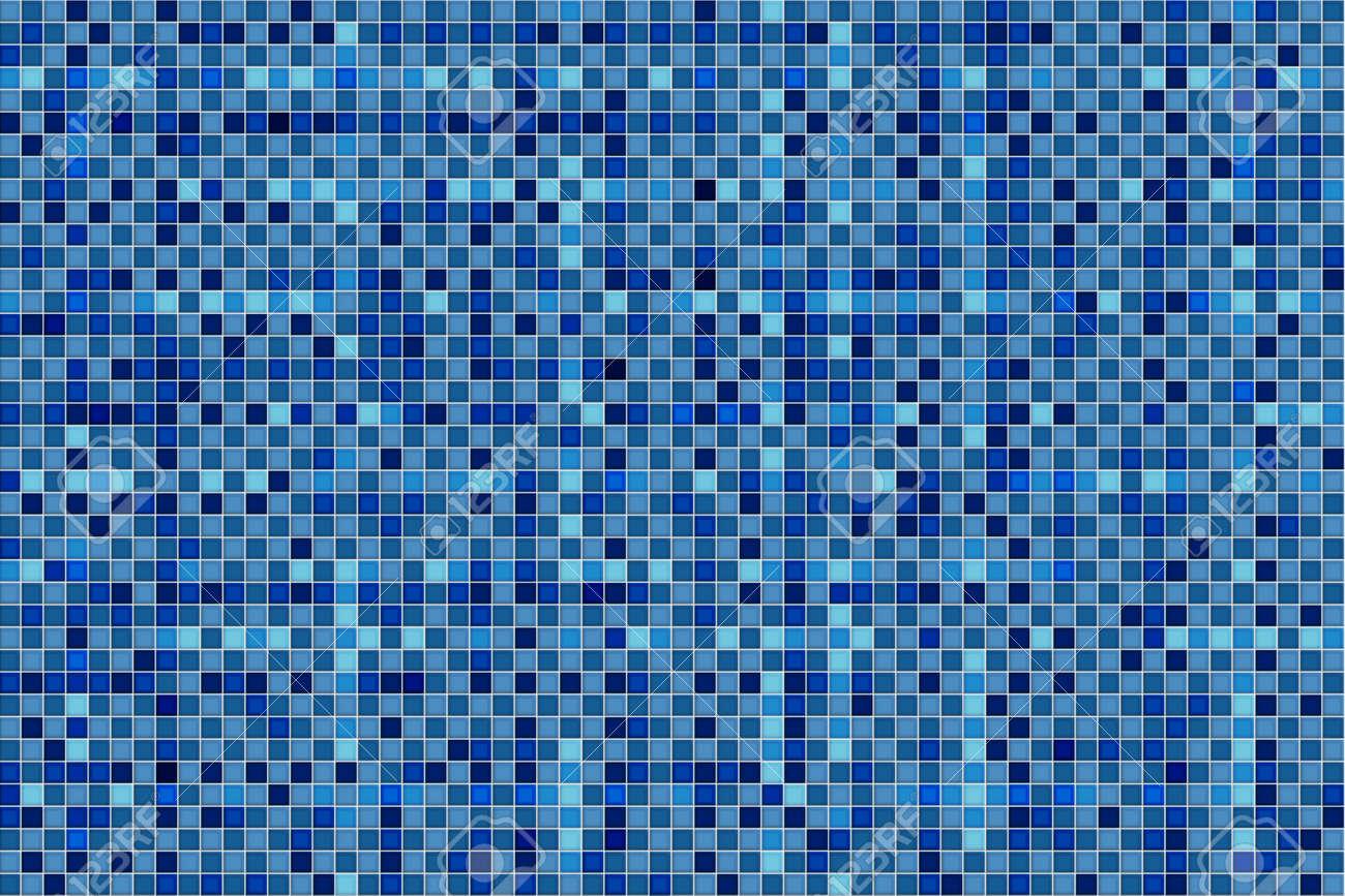 Mosaïque De Pixels Abstrait, Turquoise, Illustrations Bleu. Banque D ...