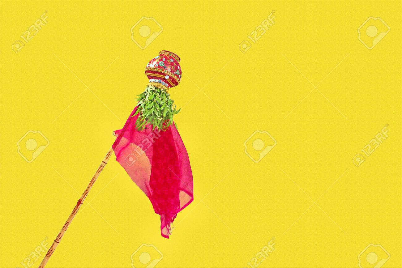 Gudi Padwa Marathi New Year Indian Festival Gudi Padwa Stock Photo