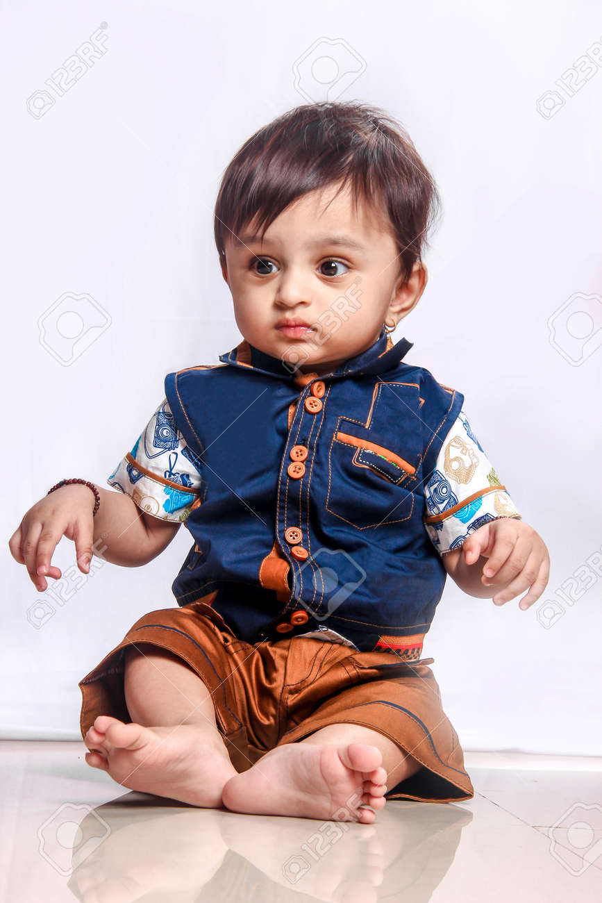 Cute Indian Baby Boy Smiling Stock Photo Picture And Royalty Free Image Image 124686152