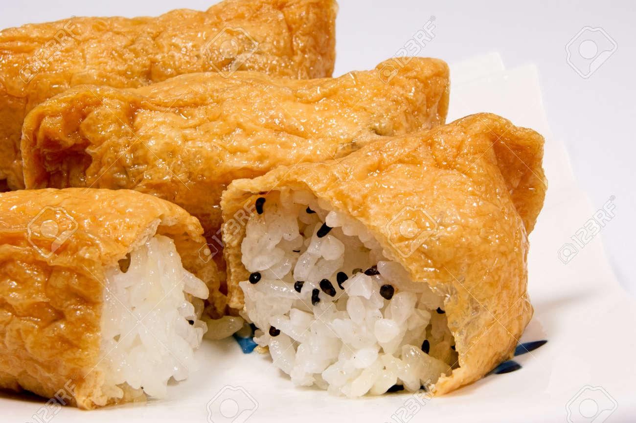 Sweet fried homemade sushi - 45139550