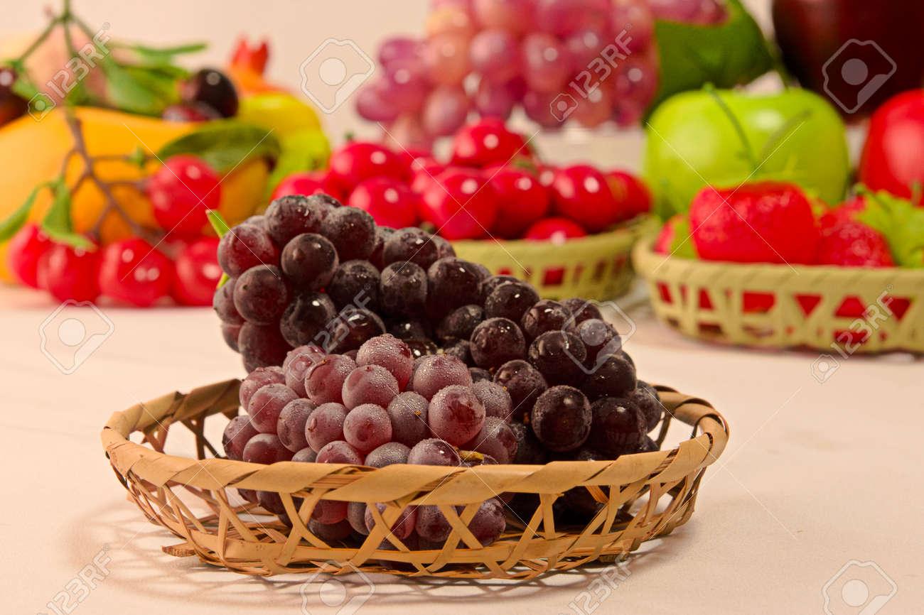 Closeup photo of Japanese grapes - 109977875