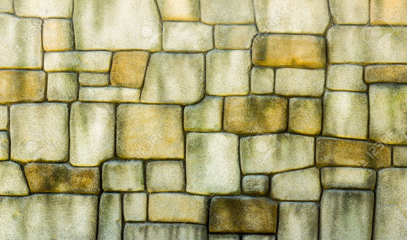 Stone Wall Texture Background, Pattern Natural Color Of Modern ...