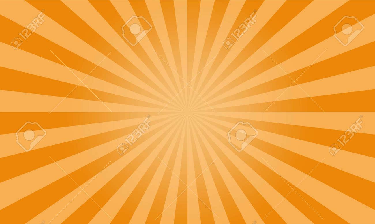 Sunburst yellow vector background, texture sun flat backdrop. - 149762263