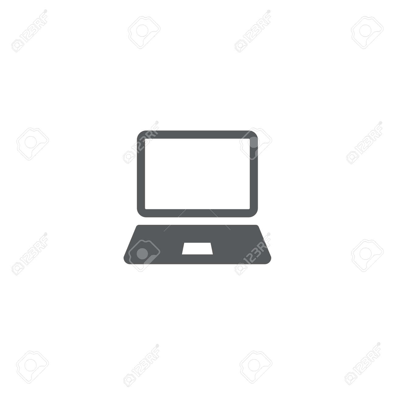 Laptop Icon in trendy flat style isolated on white background. - 156904572