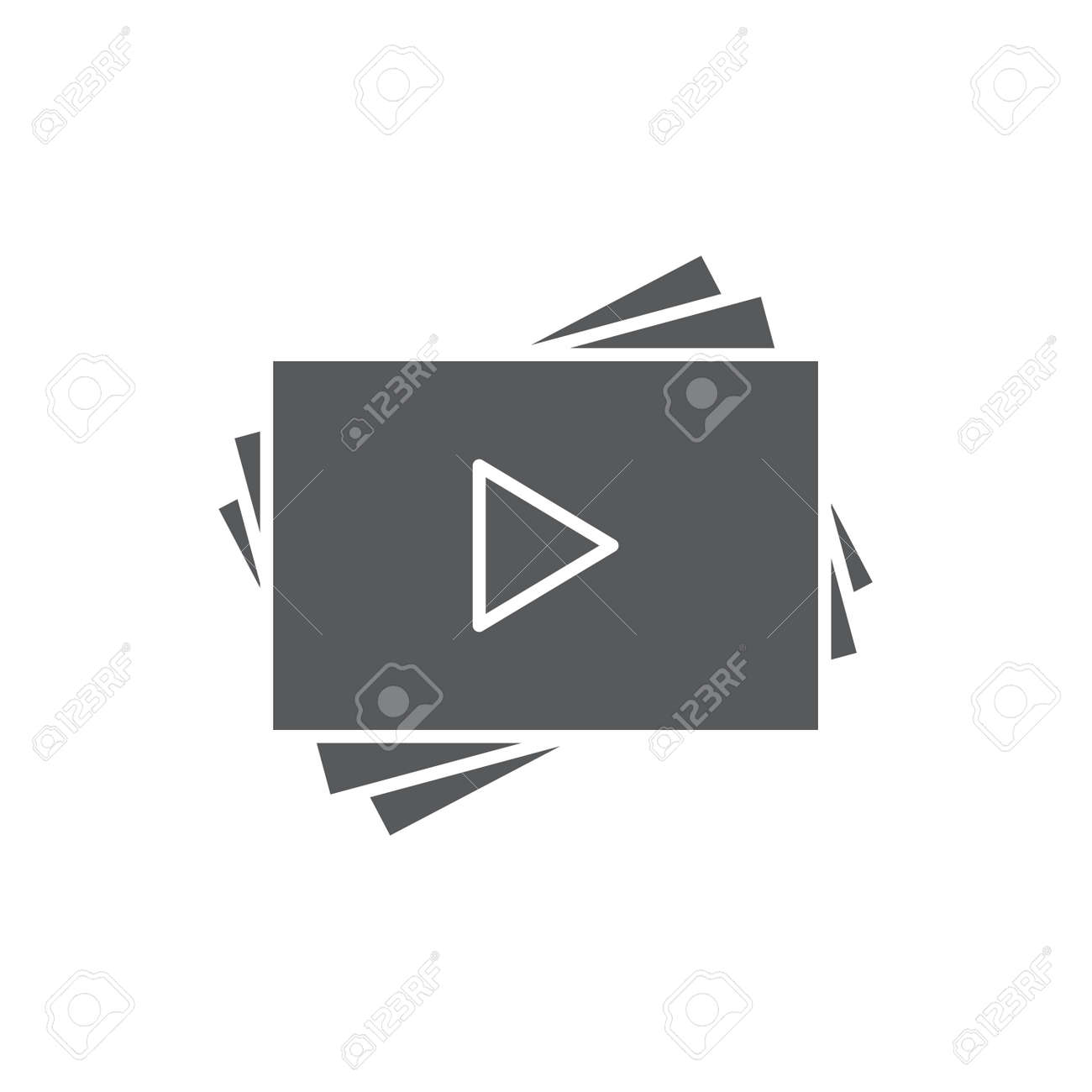 Video play list vector icon symbol favorite isolated on white background - 157125121