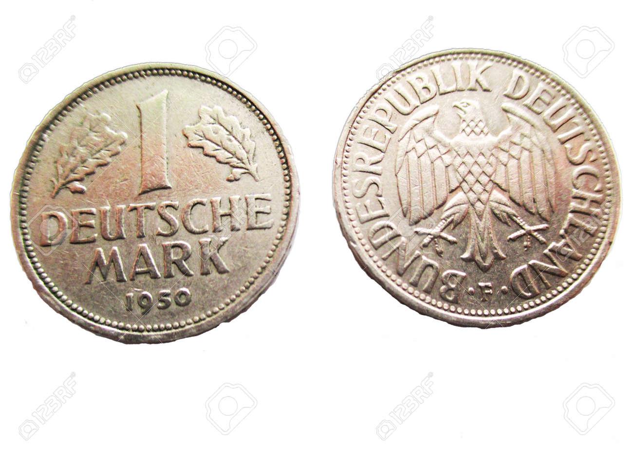 1 Deutsche Mark Münzen Lizenzfreie Fotos Bilder Und Stock