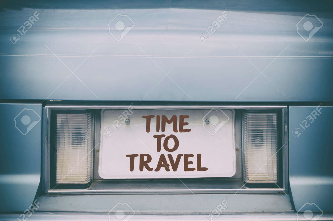 Time To Travel Quote About Travelling And Motivation Stock Photo