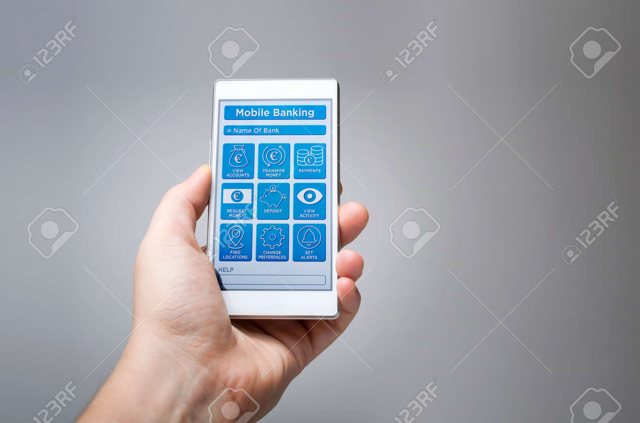 Mobile banking online mobile app  Imaginary mobile banking application