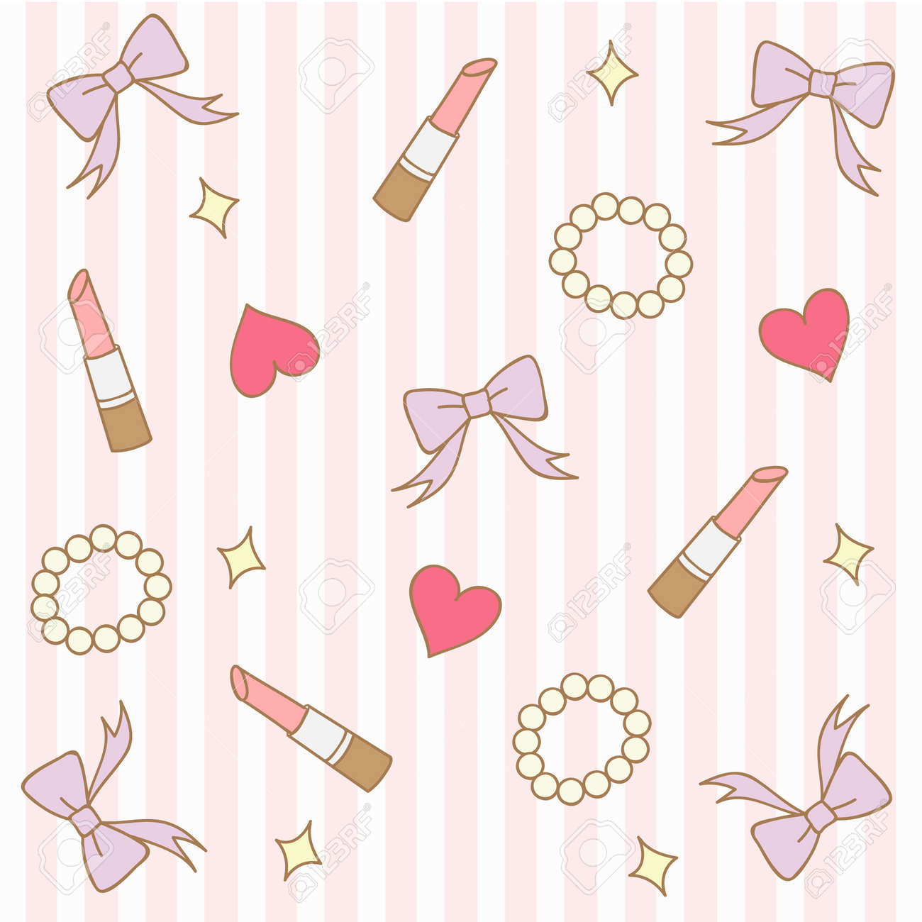 cute pink pastel girly background stock vector 43575075