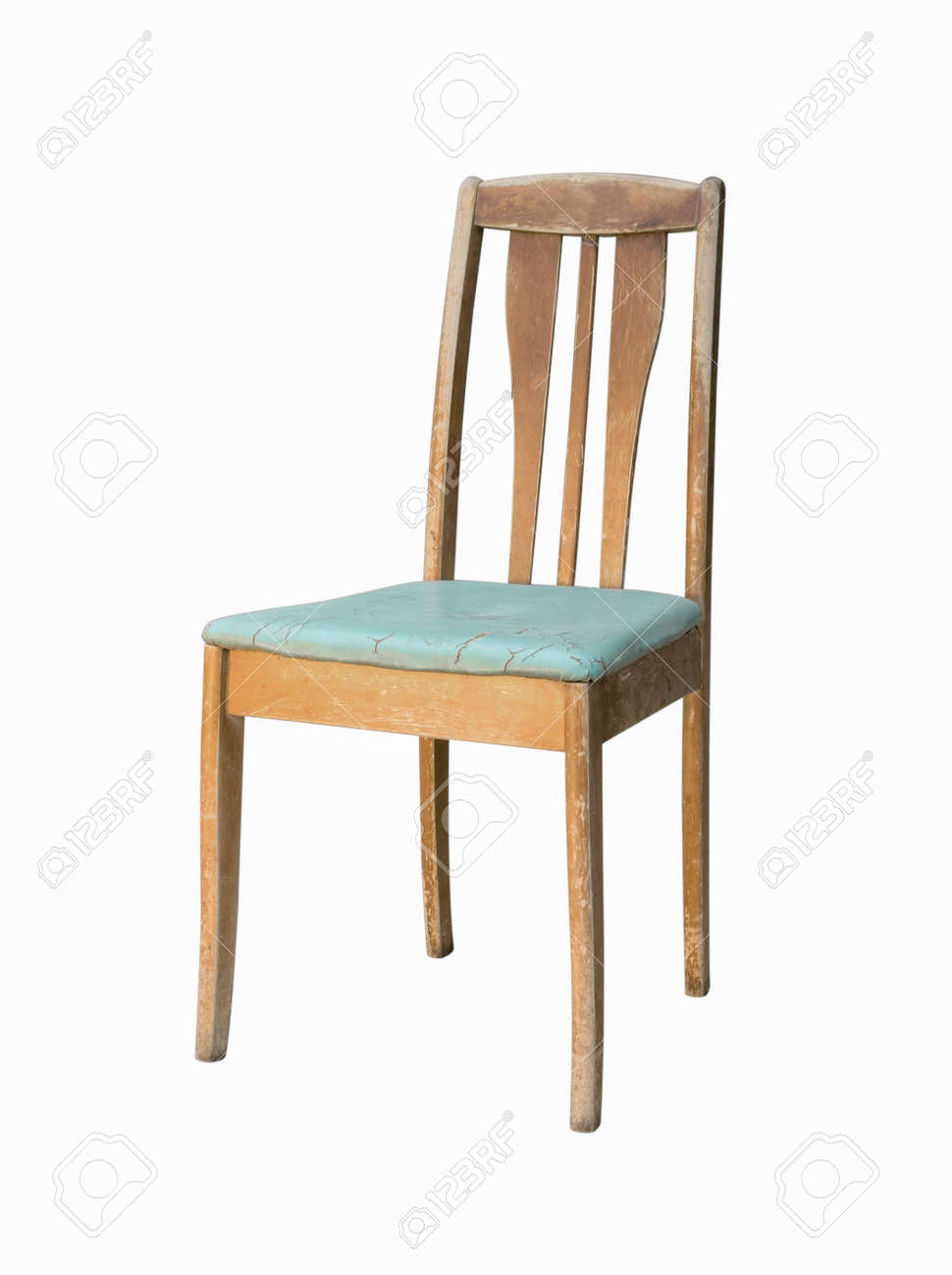 Vintage Wooden Kitchen Chair Isolate On White Background Stock Photo Picture And Royalty Free Image Image 78013822