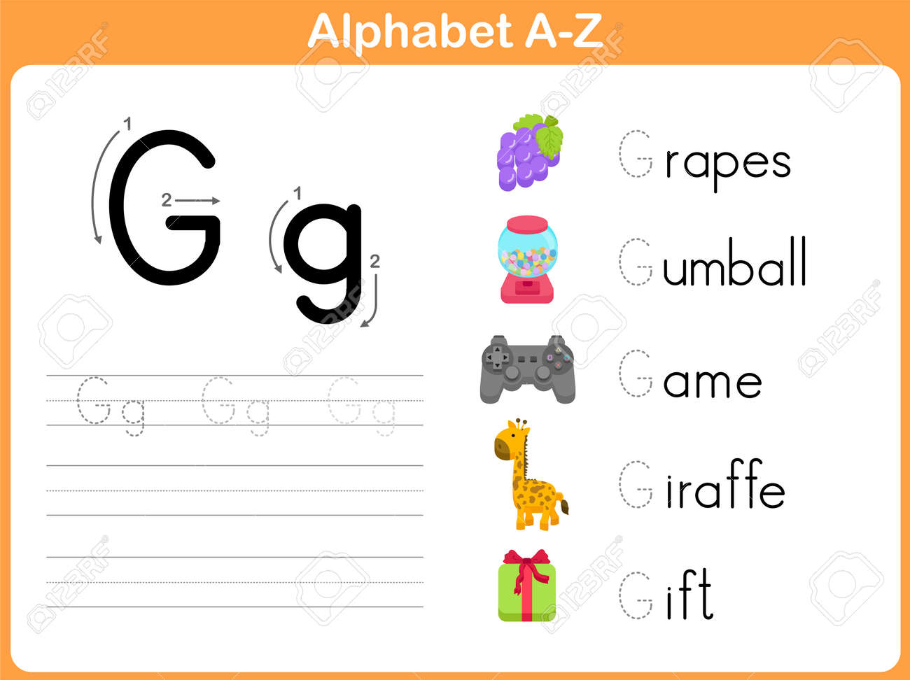 Worksheets Alphabet Tracing A  Z alphabet tracing worksheet writing a z royalty free cliparts stock vector 31984975