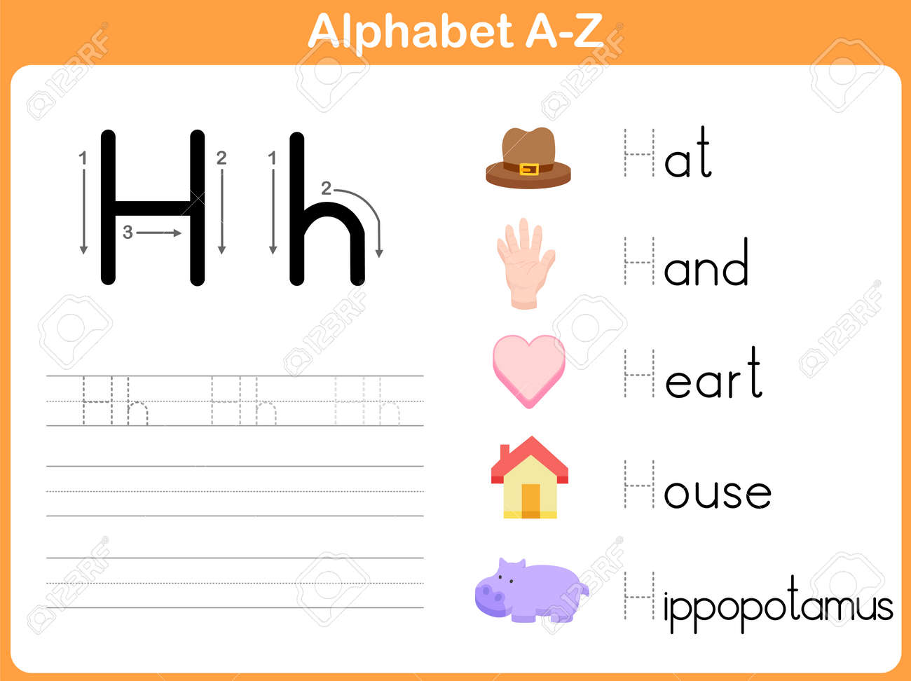 Workbooks kindergarten letter tracing worksheets : Alphabet Tracing Worksheet: Writing A-Z Royalty Free Cliparts ...