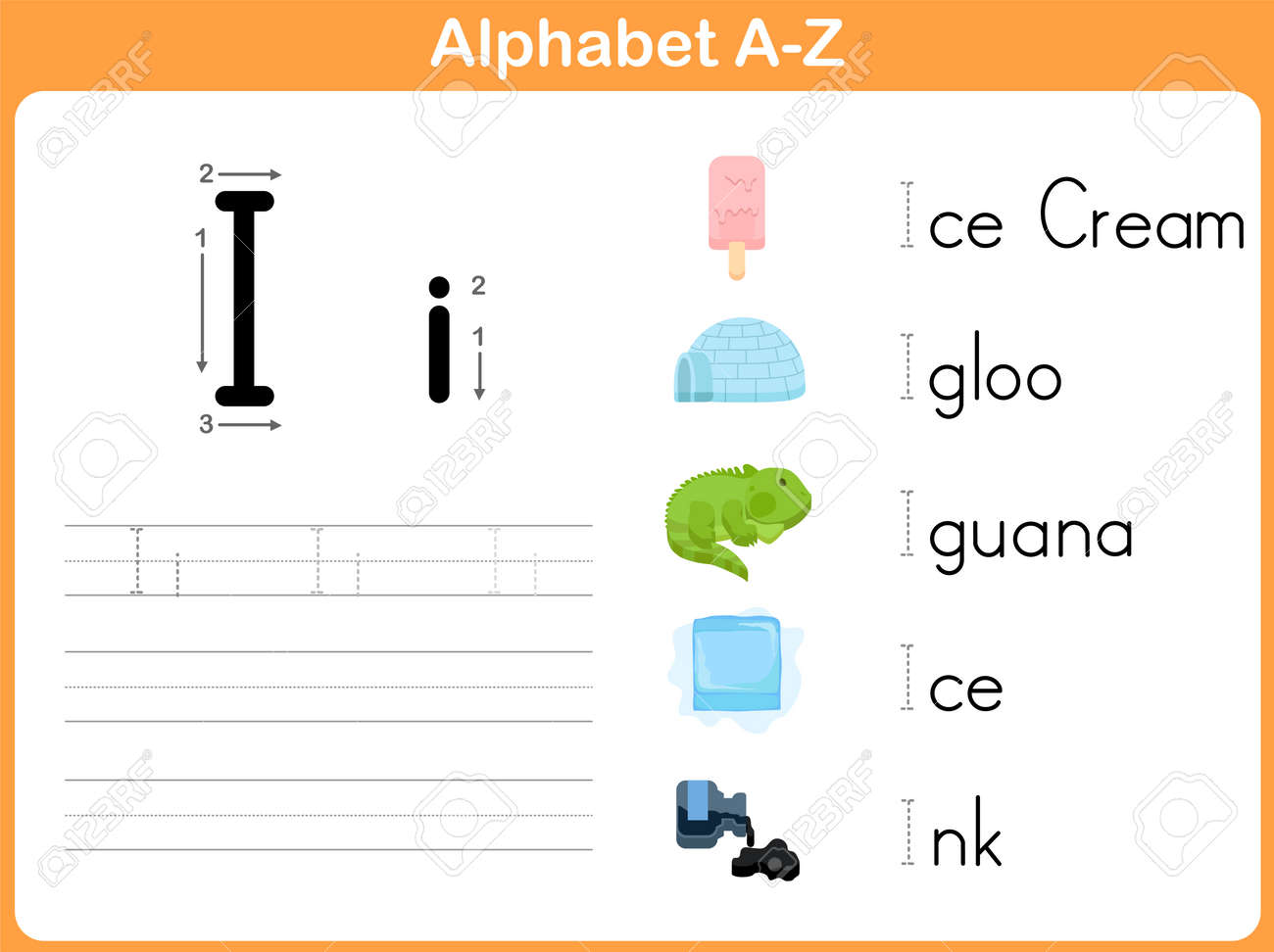 worksheet Free Alphabet Tracing Worksheets alphabet tracing worksheet writing a z royalty free cliparts stock vector 31984978