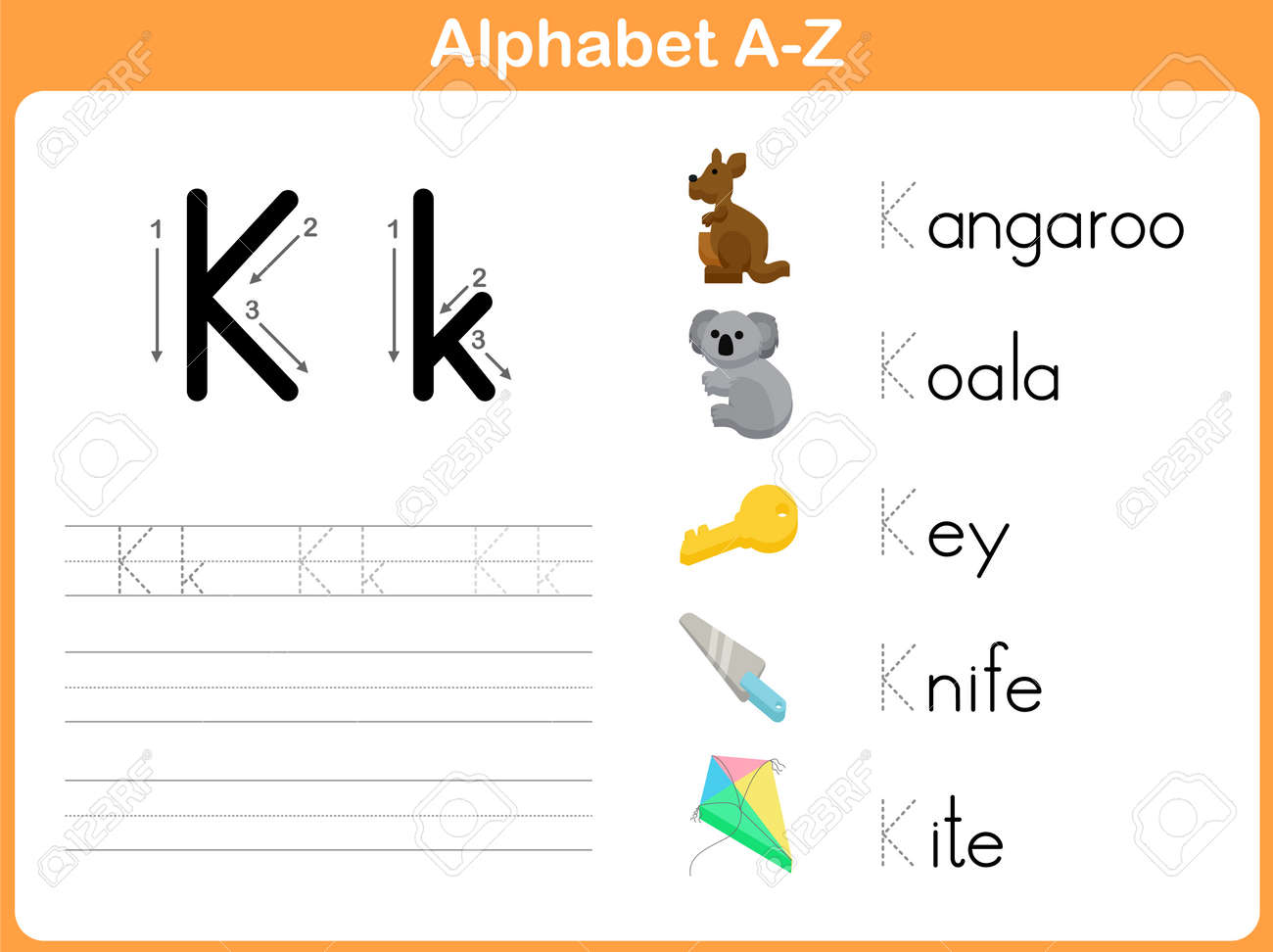 Alphabet Tracing Worksheet Writing AZ Royalty Free Cliparts – Alphabet Tracing Worksheets A-z