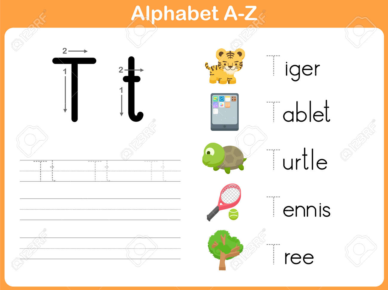 Alphabet Tracing Worksheet Writing AZ Royalty Free Cliparts – Alphabet Tracing Worksheet