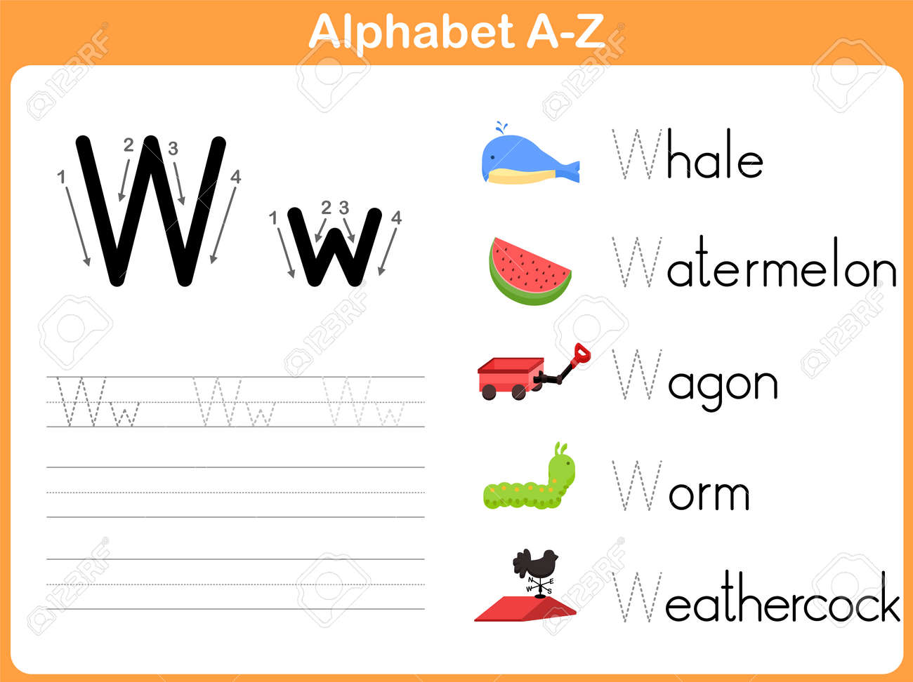 Worksheets Alphabet Tracing A  Z alphabet tracing worksheet writing a z royalty free cliparts stock vector 31984934
