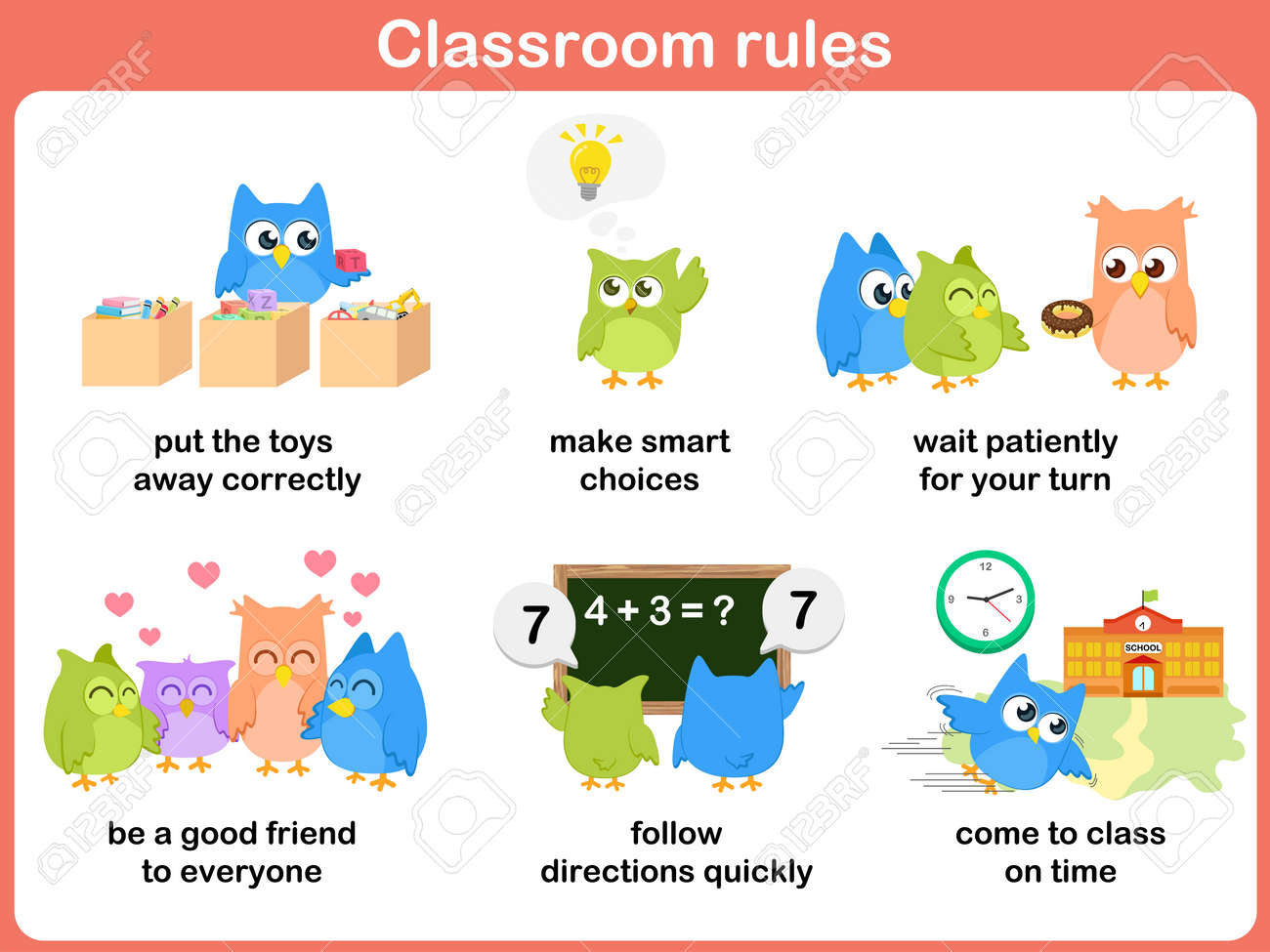 Classroom rules for kids - 34399446
