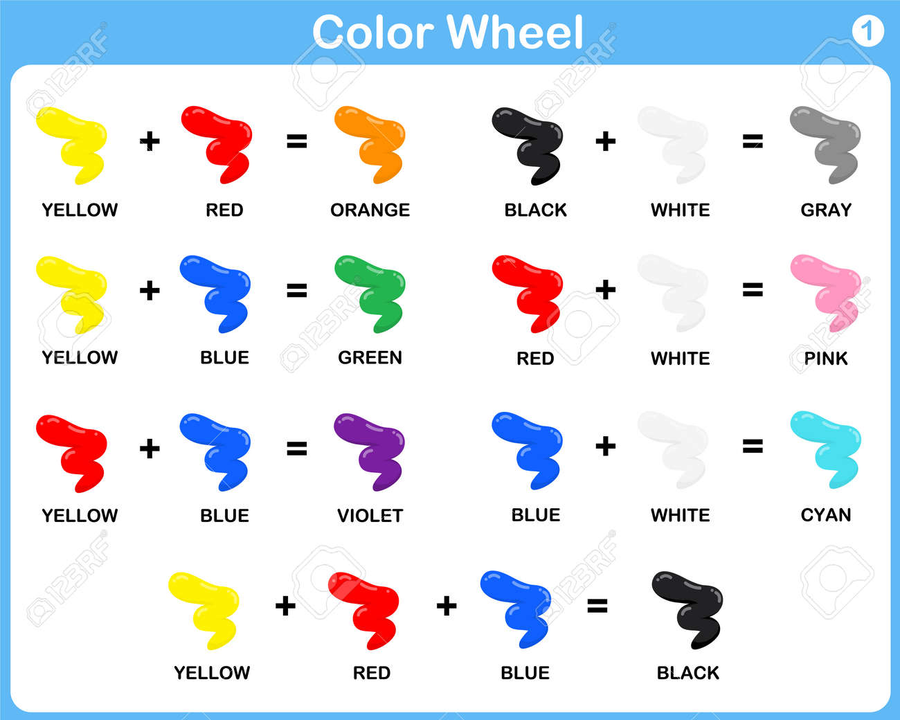 Color Wheel Worksheet Red Blue Yellow Color For Kids Royalty – Color Wheel Worksheet