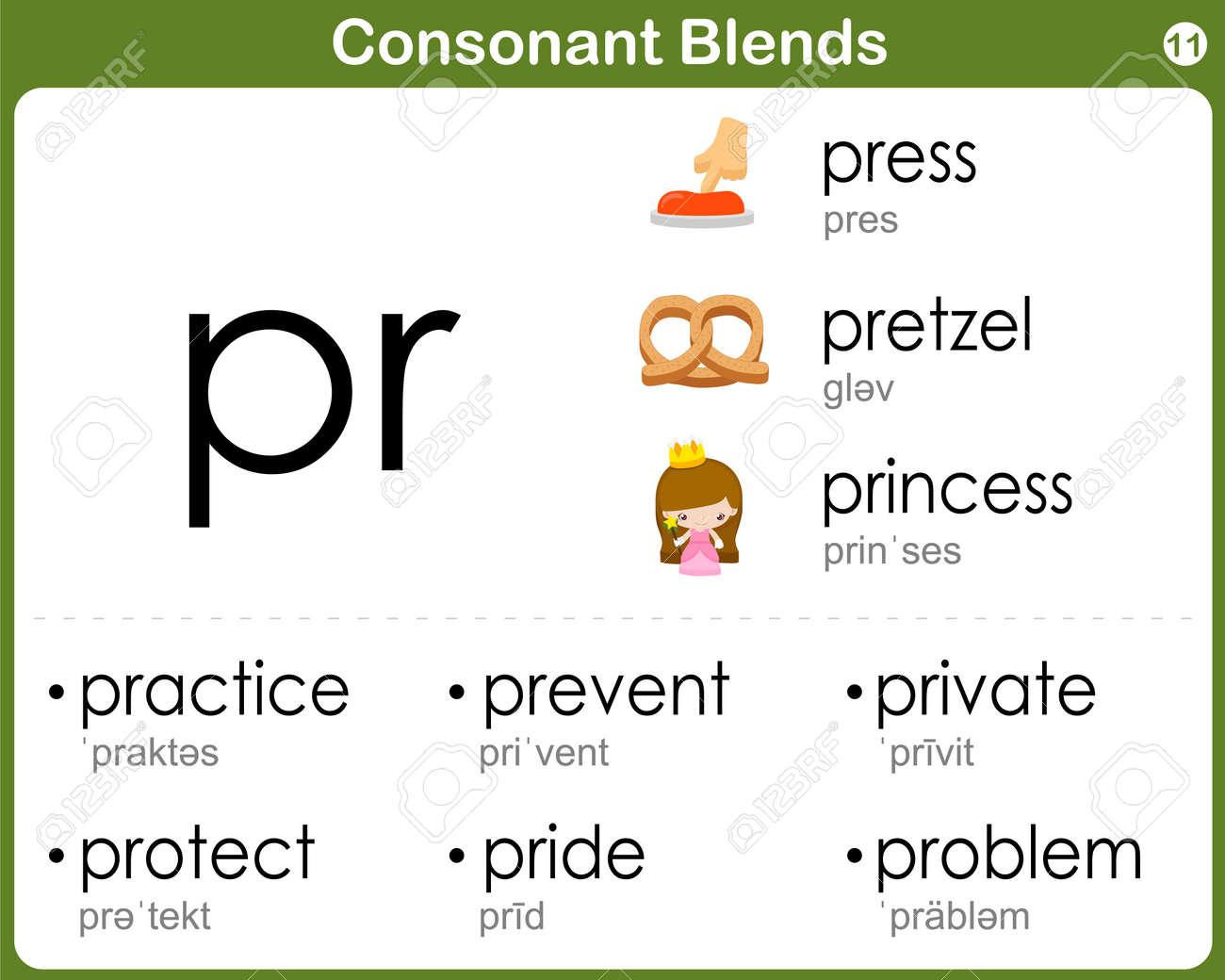 worksheet Consonant Blend Worksheets worksheets consonant blend biggone blends worksheet for kids royalty free cliparts vectors stock vector 36645925