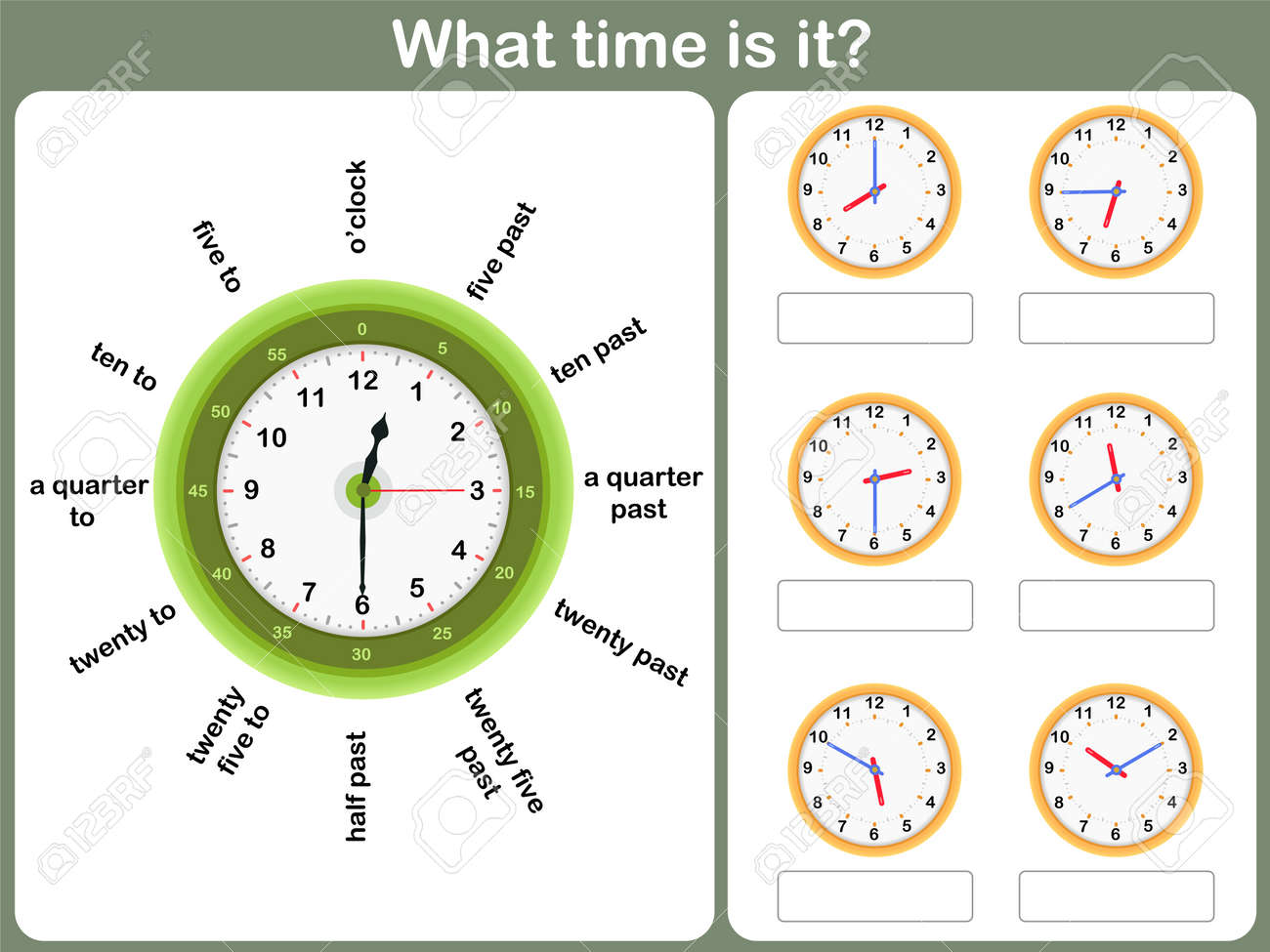 Uncategorized Telling Time Worksheet telling time worksheet write the shown on clock royalty stock vector 40950709