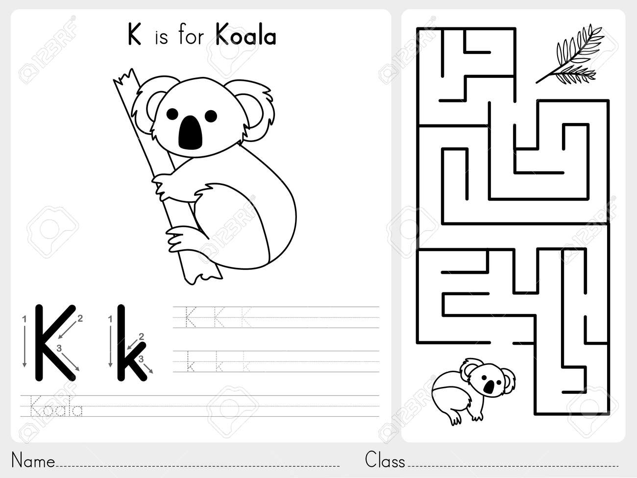 Alphabet AZ Tracing Und Puzzle-Arbeitsblatt, Übungen Für Kinder ...
