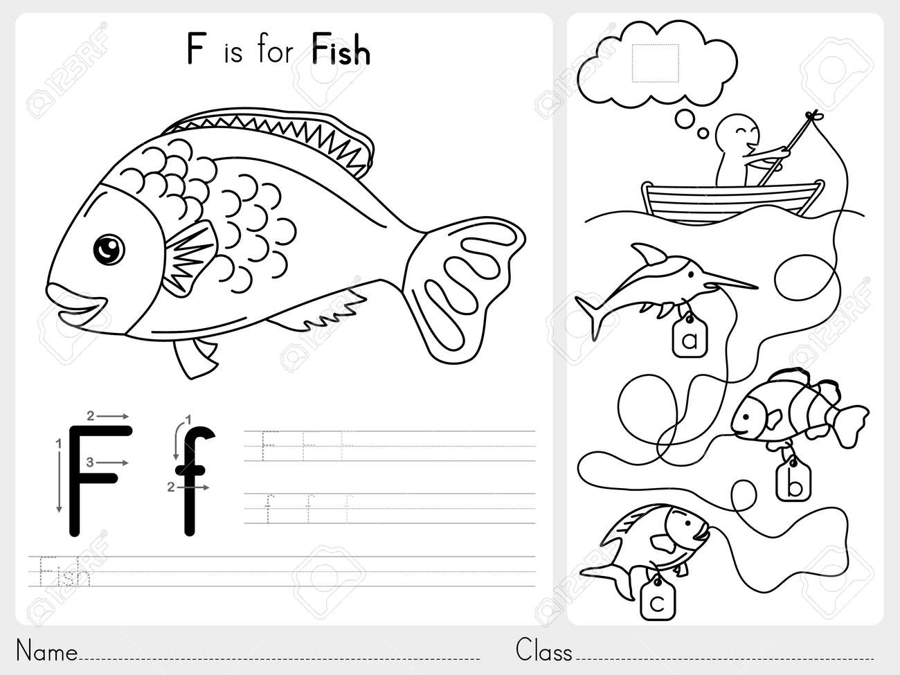 Alphabet pages for coloring book - Alphabet A Z Tracing And Puzzle Worksheet Exercises For Kids Coloring Book Illustration And