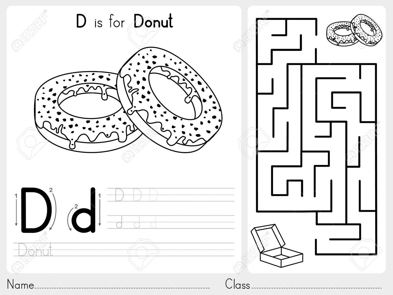 Alphabet AZ Tracing And Puzzle Worksheet Exercises For Kids – Kids Worksheet