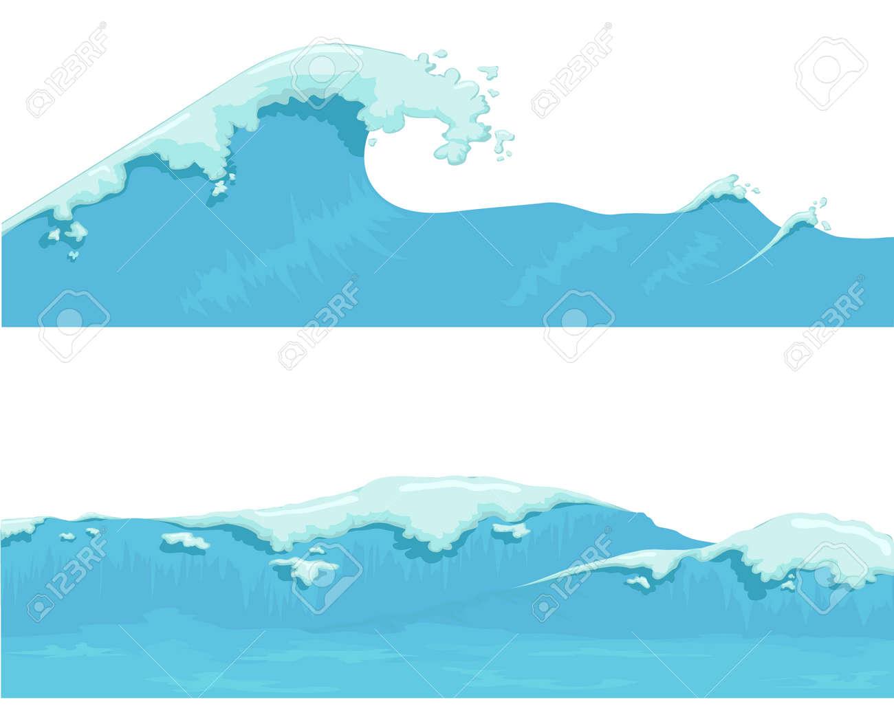 Blue Ocean Wave, giant wave - 50129529
