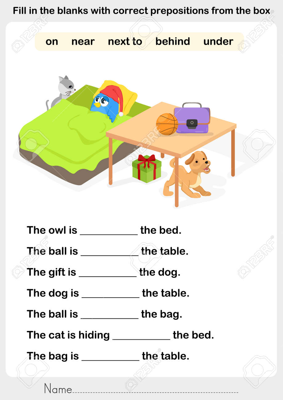 Fill In The Blanks With Correct Prepositions Preposition – Free Preposition Worksheets