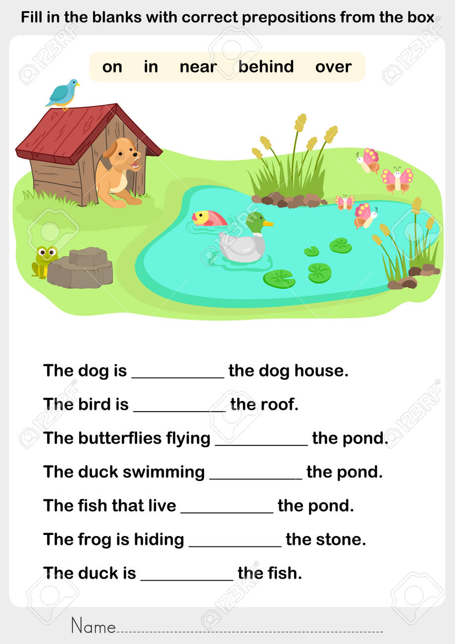 Fill In The Blanks With Correct Prepositions - Preposition Worksheet ...
