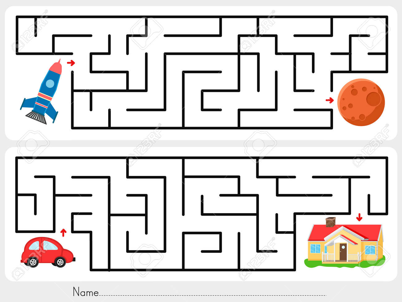 Red Car Game >> Maze Game Help Rocket Find The Way To Mars And Help Red Car
