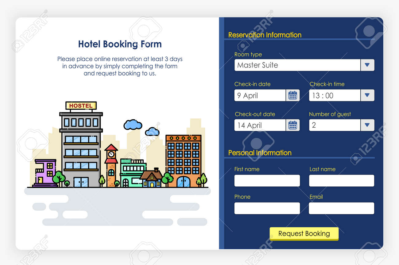 Onboarding Screens Design In Hotel Booking Form And Icon Modern Royalty Free Cliparts Vectors And Stock Illustration Image 104305462