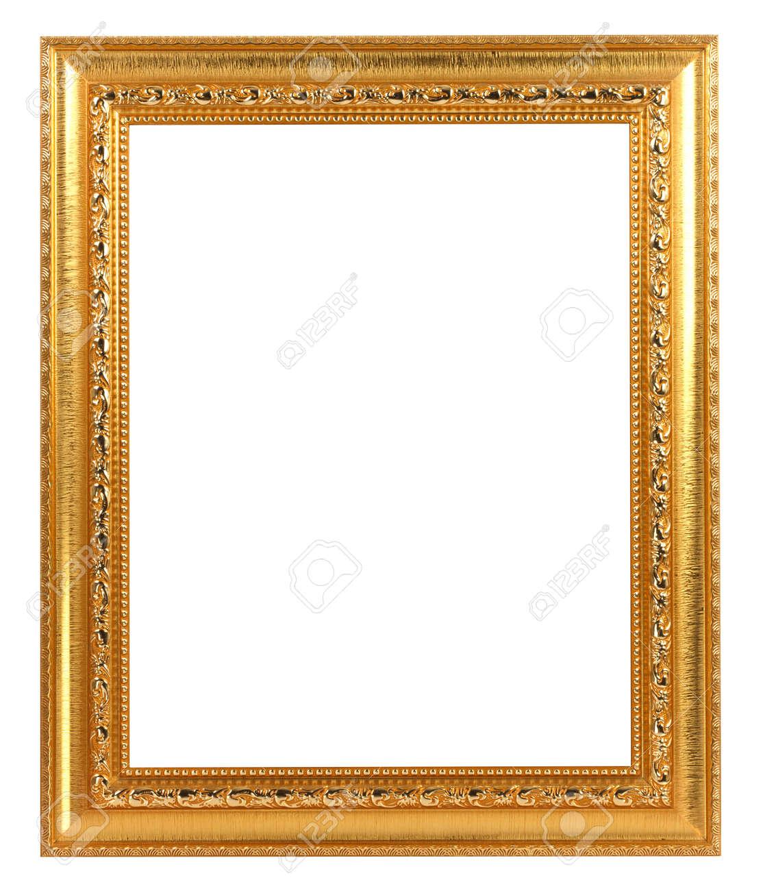 Gold Vintage Frame ISOLATED on White Background. - 125114219
