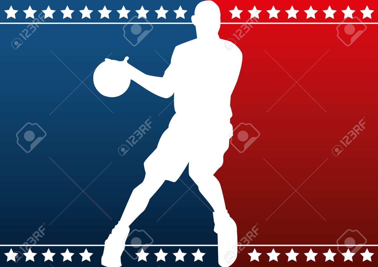 Basketball silhouette Stock Vector - 11295591