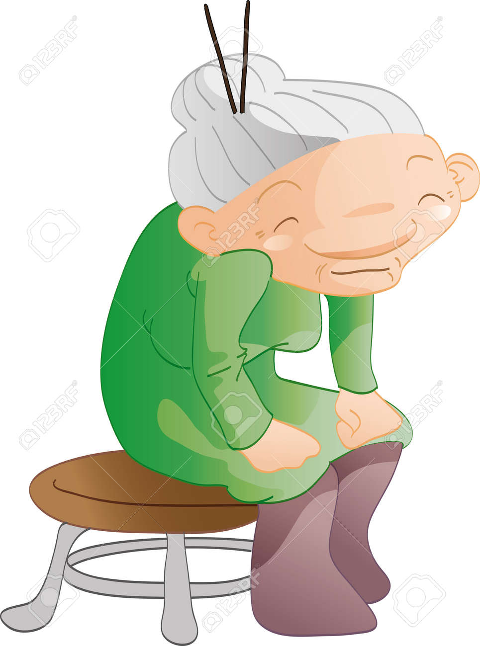 Cartoon Old Woman Sitting On A Chair Royalty Free Cliparts Vectors And Stock Illustration Image 17241505