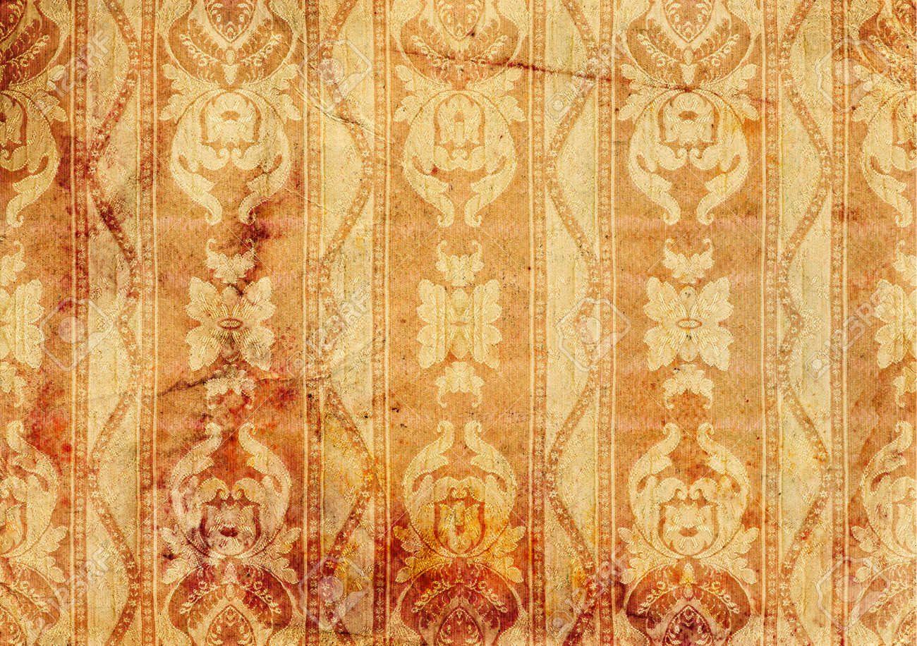 Vintage background - old wallpaper Victorian style, design. Stock Photo - 12649904