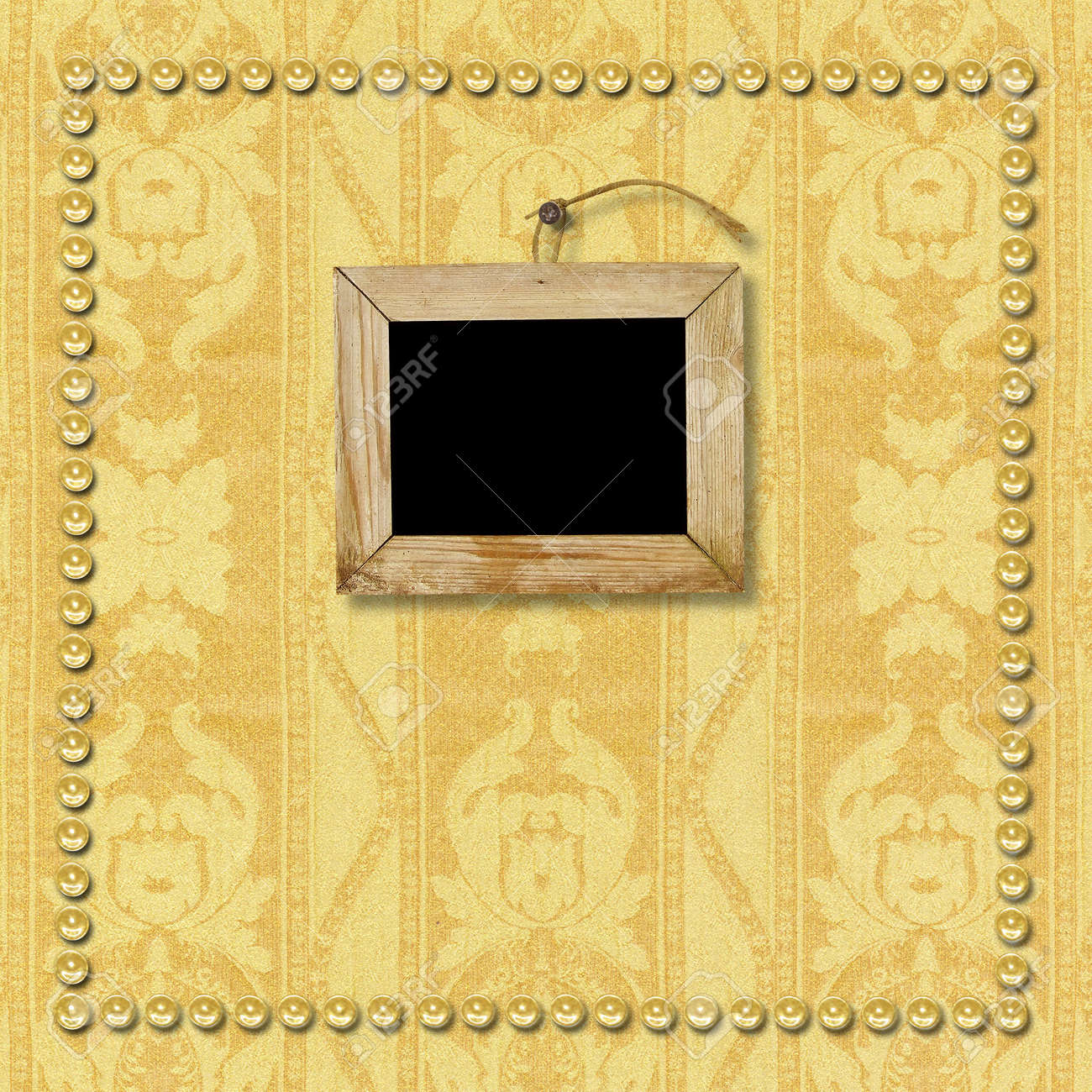 old wooden picture frame hanging on the wall the page template