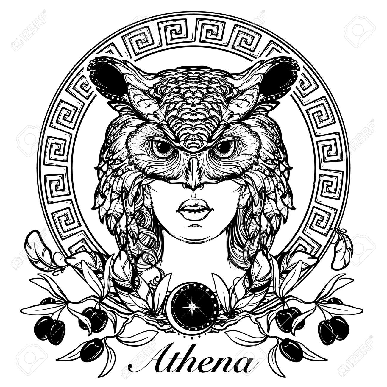 189 Greek Goddess Athena Stock Vector Illustration And Royalty Free