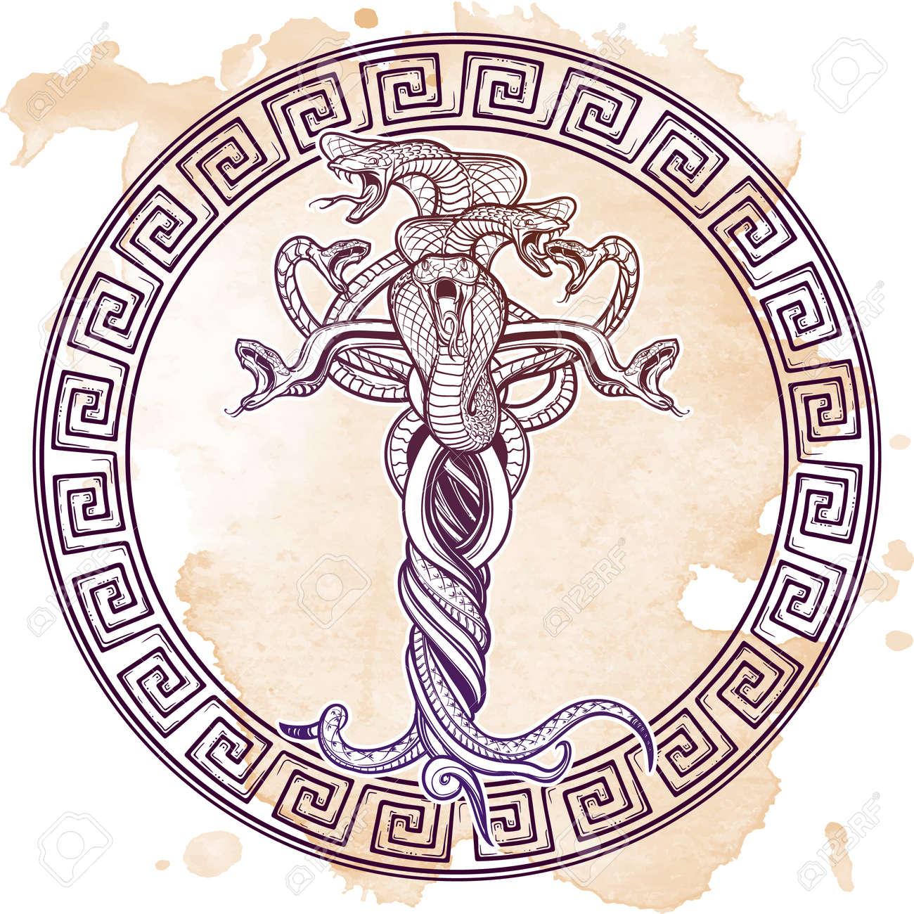 Dessin Tatouage Serpent bouquet de serpents emmêlés comme une représentation sybmbolical du