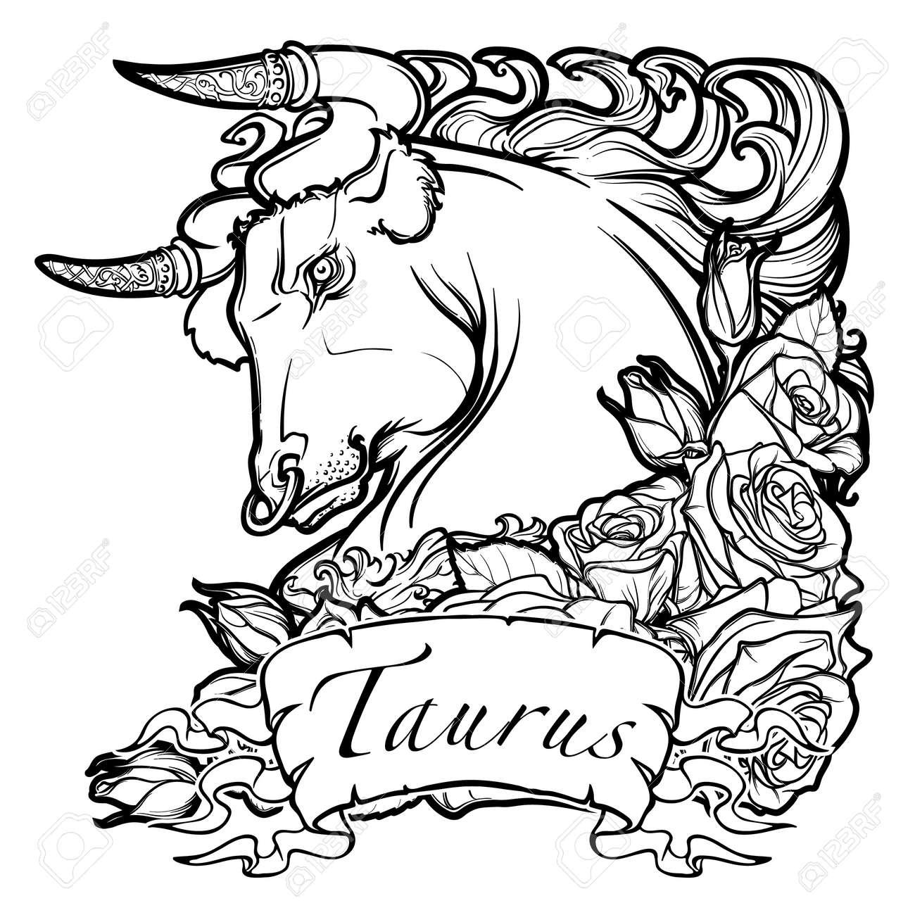 Sign tattoo designs - Taurus Star Sign Tattoo Designs