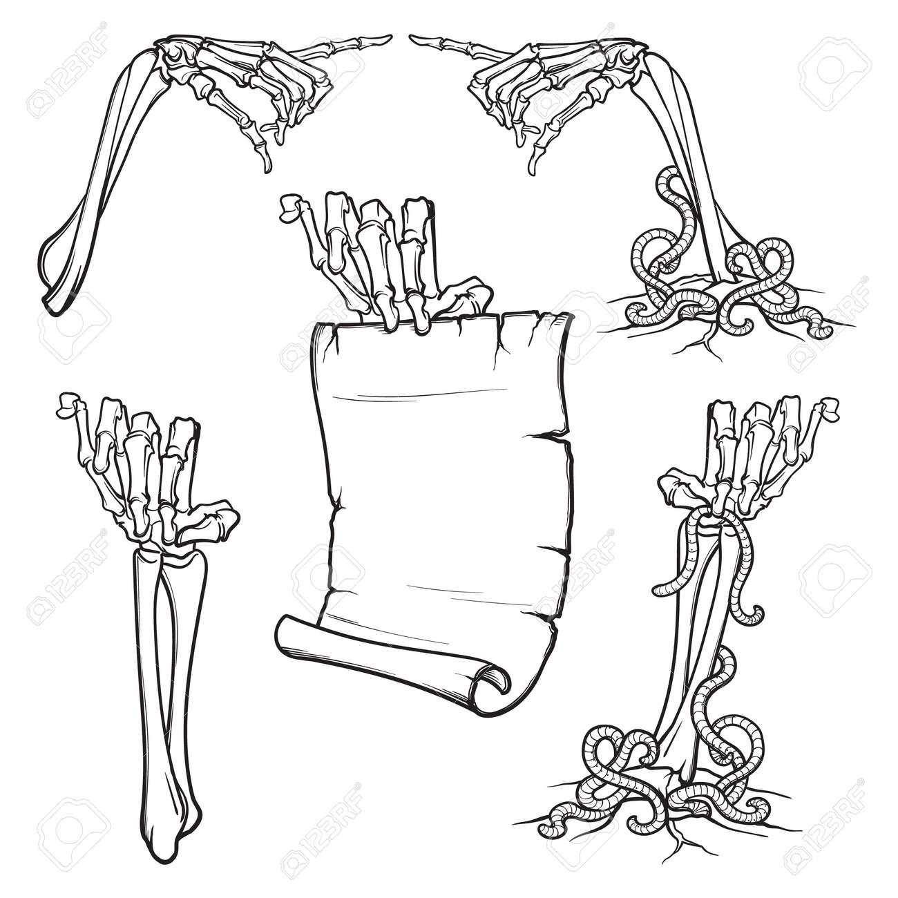 骸骨の手のアイコンのイラスト素材ベクタ Image 88094549