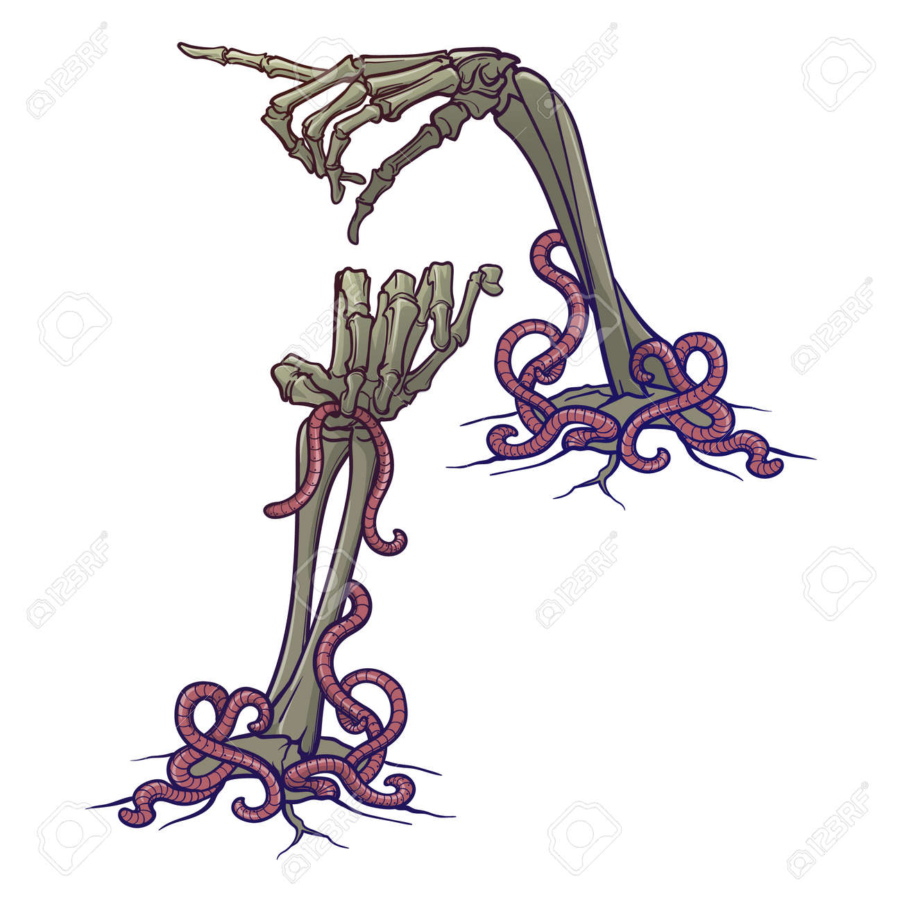 halloween design elements set of skeleton hands pointing with royalty free cliparts vectors and stock illustration image 109543261 halloween design elements set of skeleton hands pointing with