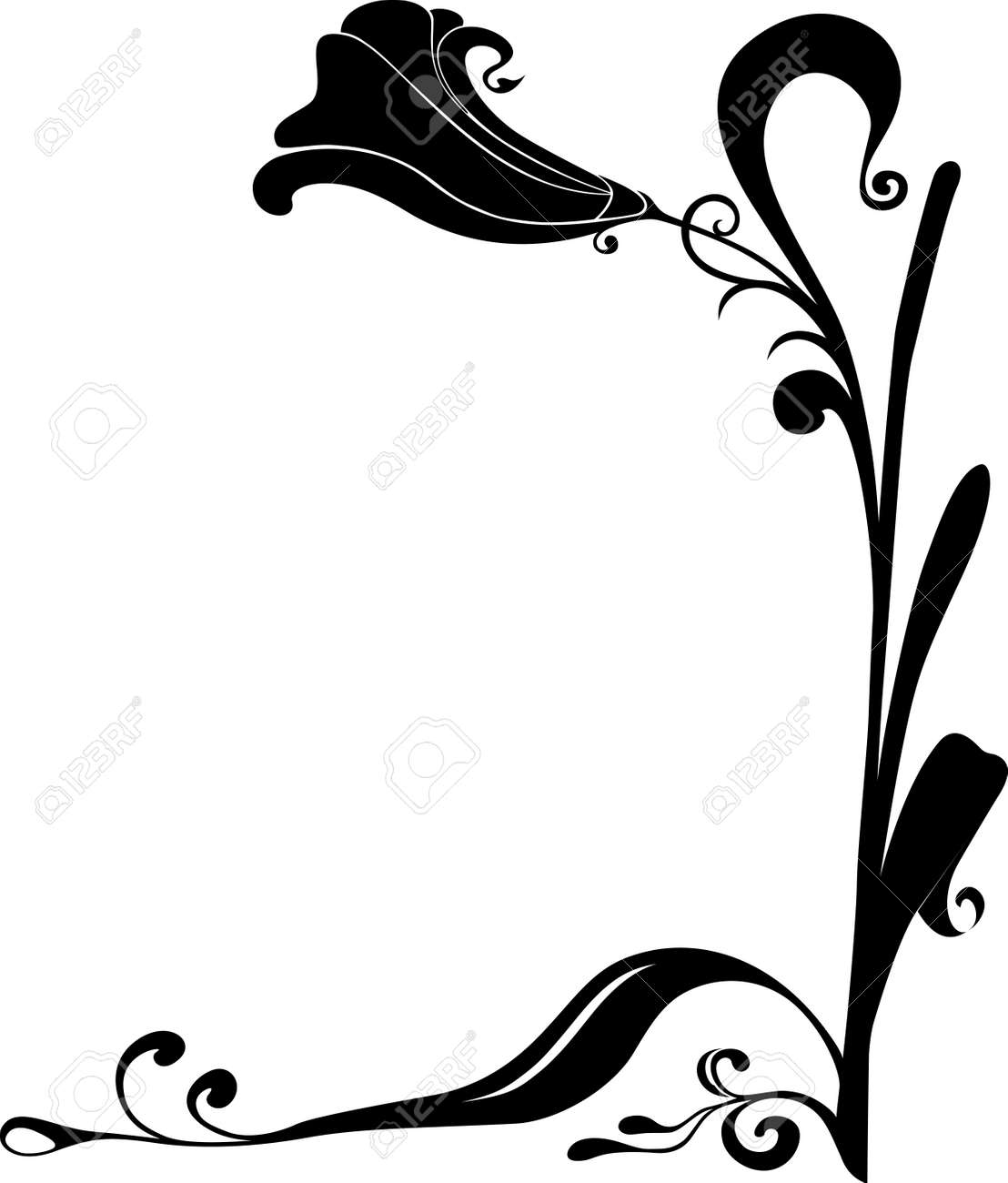 flower frame for corners. Flower with leafs Stock Vector - 15313883