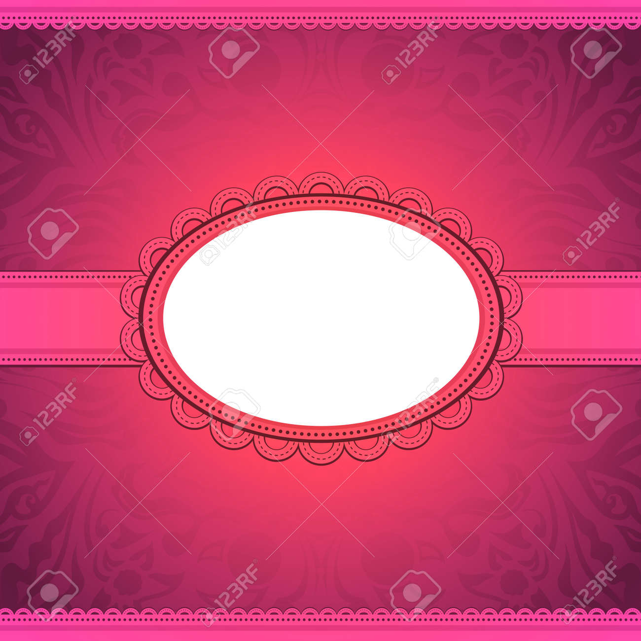 vector squared label on artistic background. Greeting card Stock Vector - 17221501