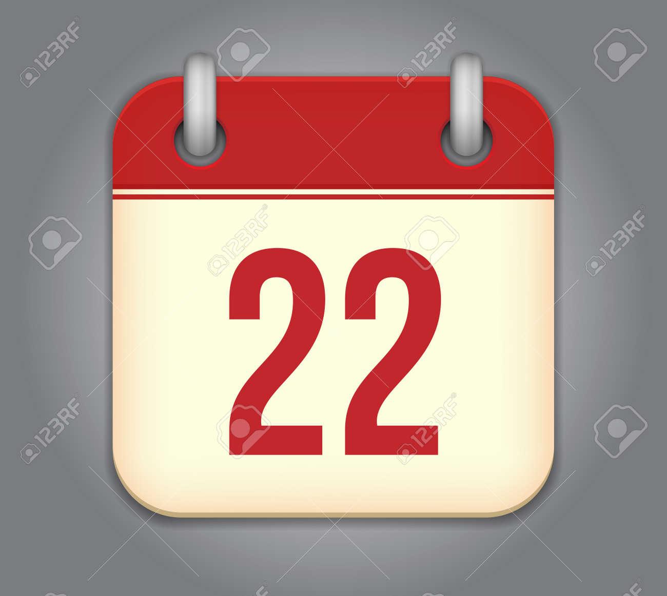 calendar app icon Stock Vector - 18349530