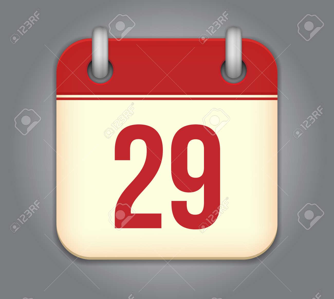 calendar app icon Stock Vector - 18349540